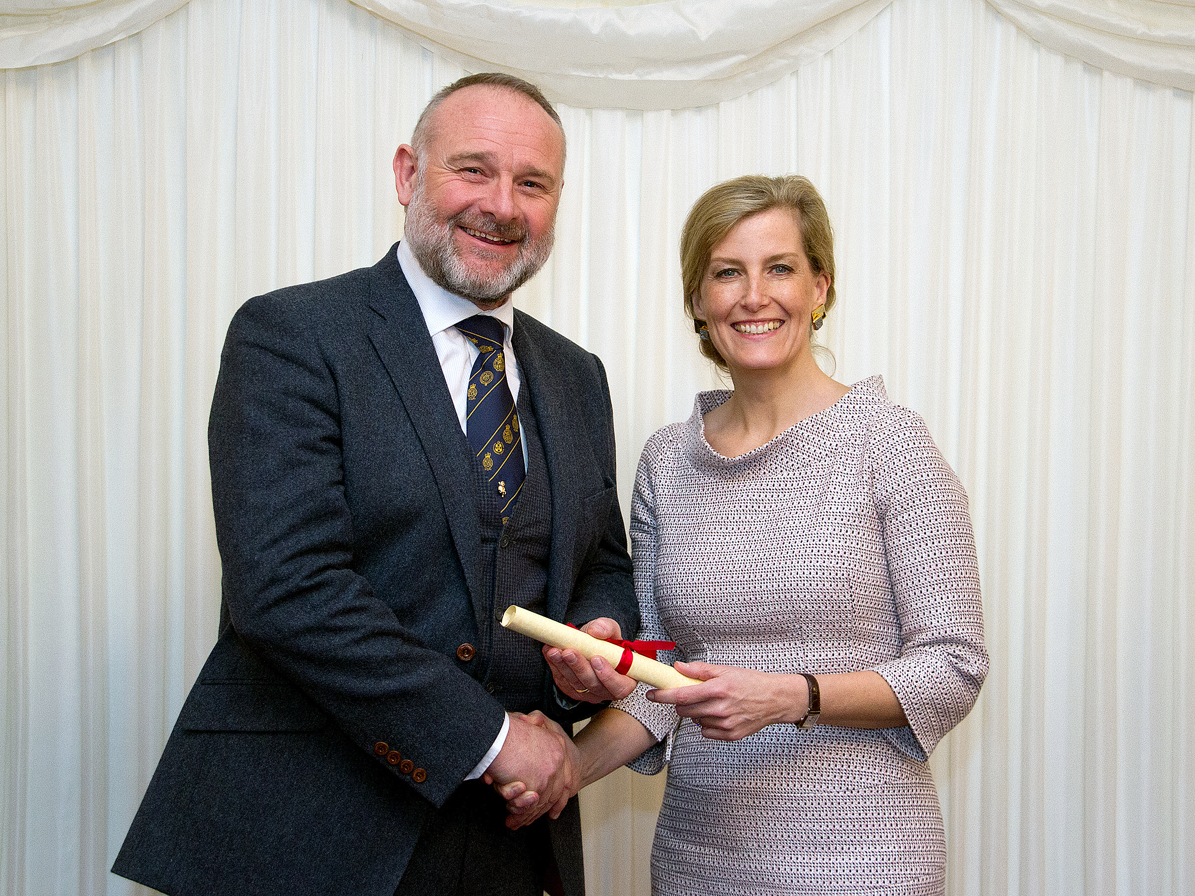Sean Sparling, ARAgS, receiving his award from HRH the Countess of Wessex