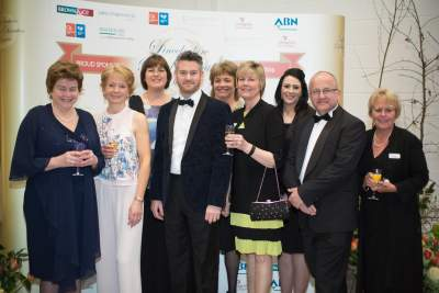 Members of the Dinner Committee with Colin McGurran