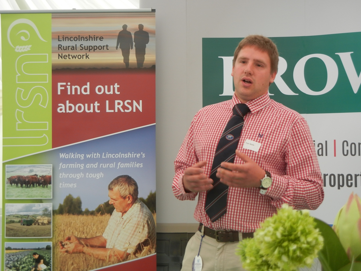 Tom Wells addressing the LRSN and Brown and Co Breakfast Event