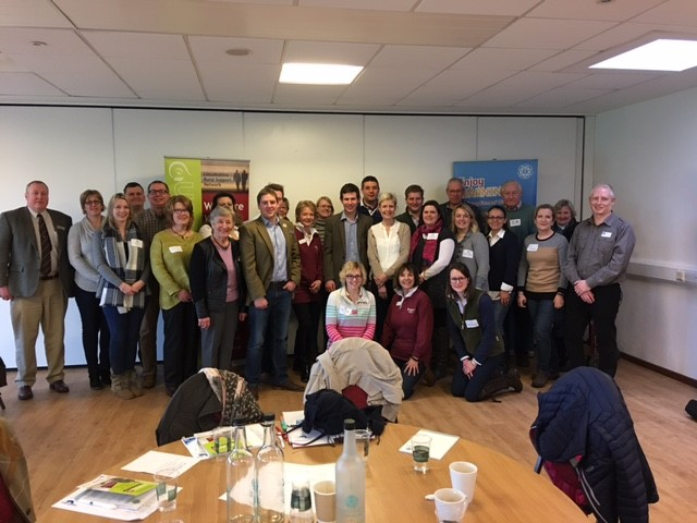 Members of LRSN, NFYFC, Lincs Young Farmers, FCN, NRS and Nottinghamshire Young Farmers attending the workshop.