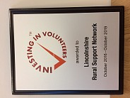 LRSN celebrate achieving the Investing in Volunteers Standard