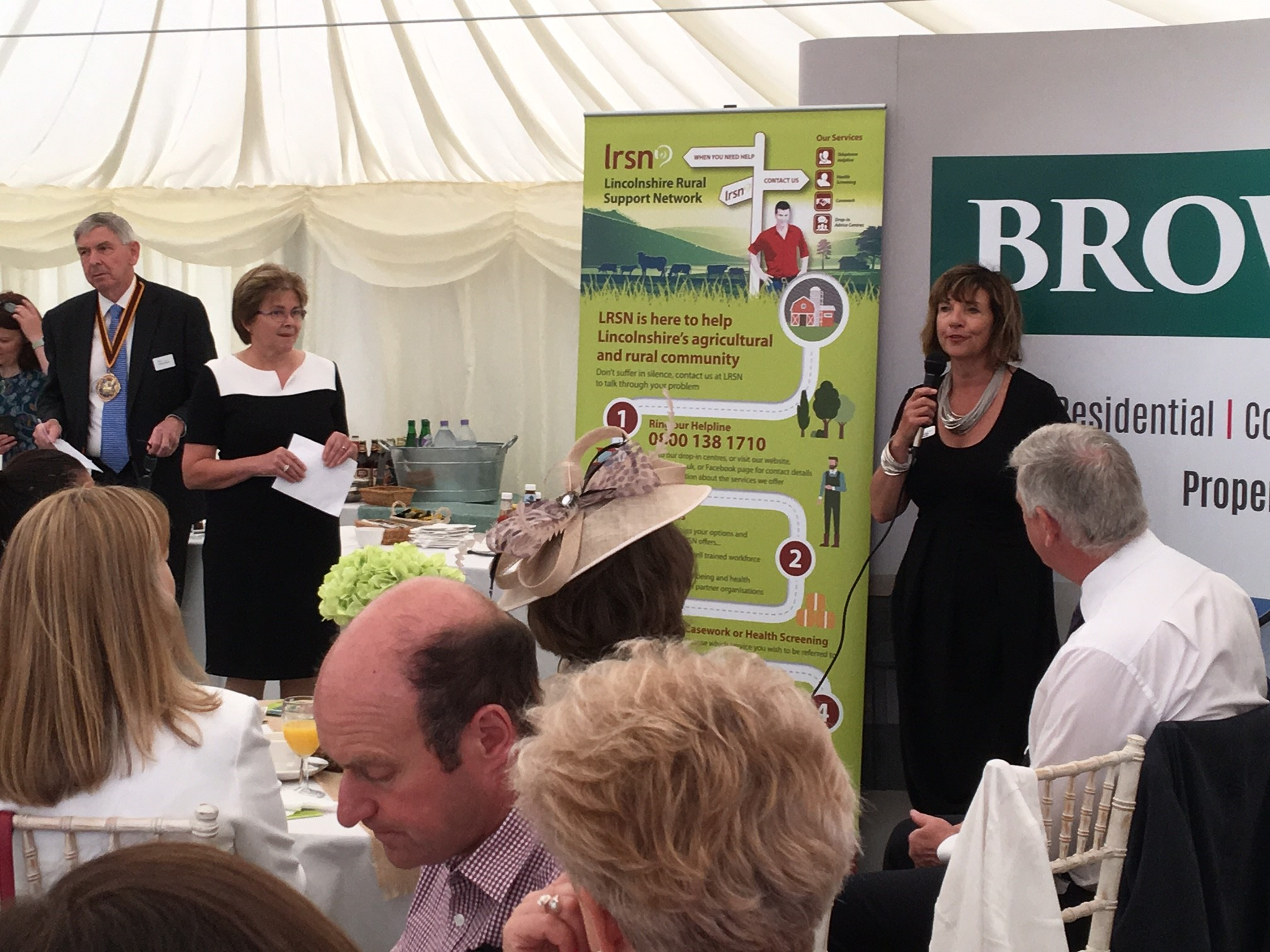 LRSN's Chairman Meryl Ward and Project Manager, Alison Twiddy, addressing guests at the LRSN Breakfast meeting