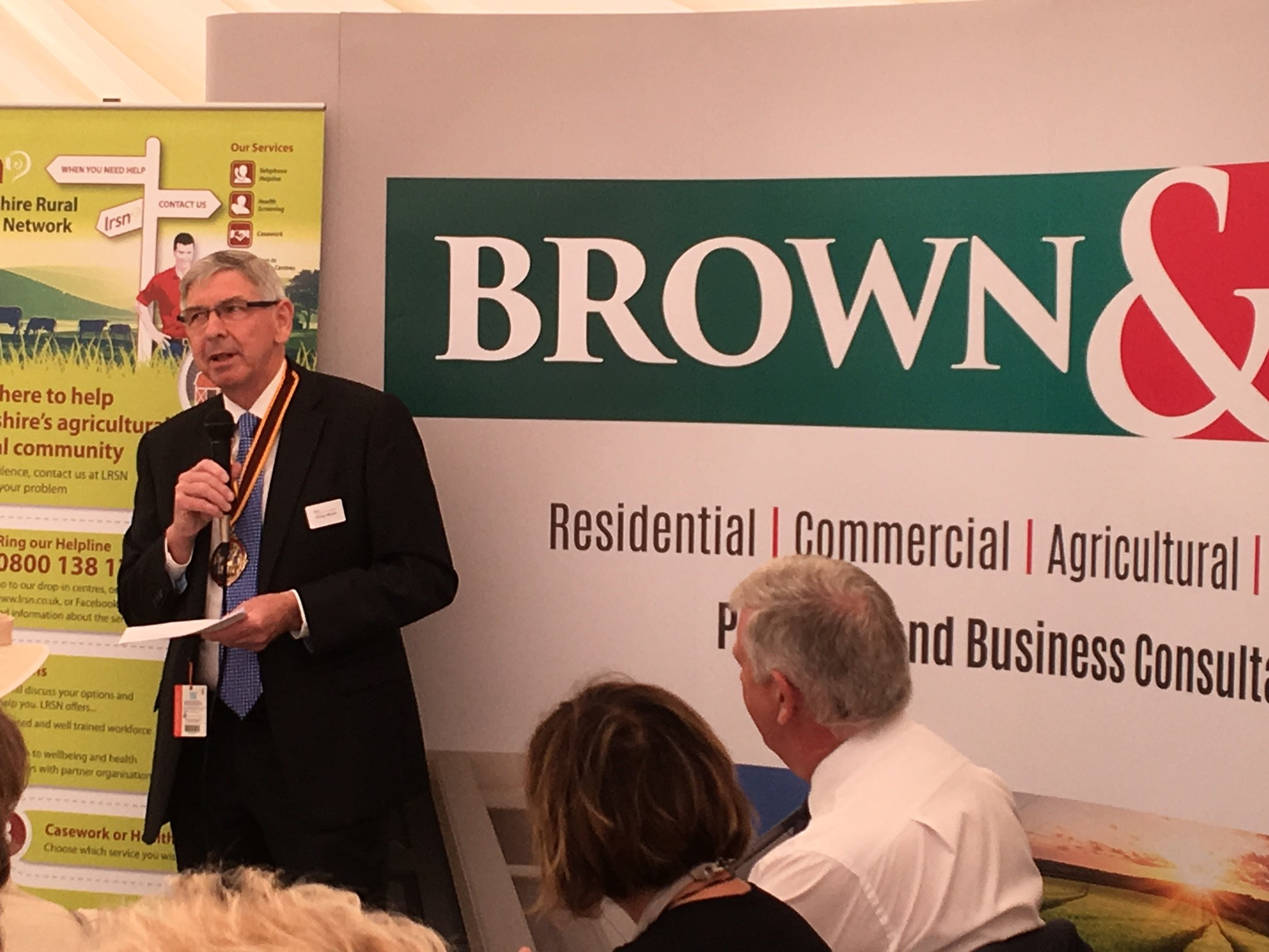 Philip Wynn addressing guests at the LRSN Breakfast meeting at the Lincolnshire Show