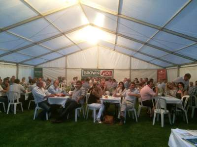 Guests concentrating on questions to the rural quiz