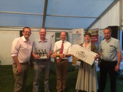 The wining team: The Four Chocolatiers! From the left- Andrew Green, Chris Balck, Phil Dunn, Rosie Black and Adrian Black
