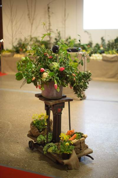 Decoration at the dinner using donated Lincolnshire produce